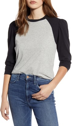 Lucky Brand Puff Sleeve Cotton Baseball T-Shirt