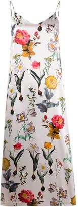 L'Autre Chose Floral-Print Slip Dress
