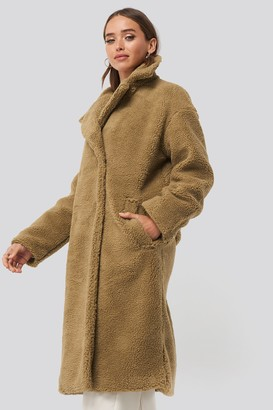 NA-KD Big Collar Teddy Coat