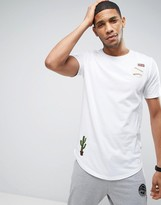 ONLY & SONS Longline T-Shirt with Patches