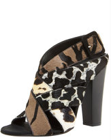 Mixed-Print Woven Sandal