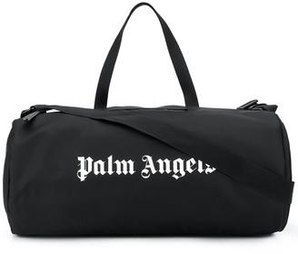 Palm Angels Logo Print Barrel Holdall