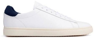 Clae Bradley Leather White Navy - UK7