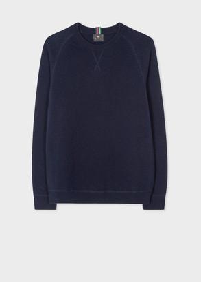 Paul Smith Men's Dark Navy Merino Raglan Sleeve Sweater