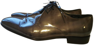 Salvatore Ferragamo Grey Patent leather Lace ups