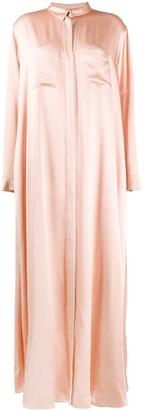 Maison Rabih Kayrouz Long-Sleeve Flared Shirt Dress