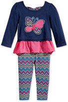 Nannette Baby Girls' 2-Pc. Butterfly Tunic & Leggings Set