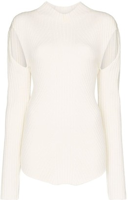 Low Classic ribbed cut-out knit top