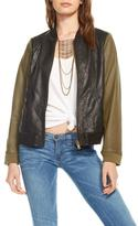 Chaser Blocked Leather Jacket