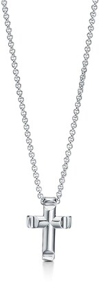 Tiffany & Co. Paloma's GrooveTM cross pendant in sterling silver, small