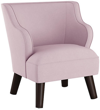 One Kings Lane Kira Kids' Accent Chair - Lilac Linen - frame, espresso; upholstery, lilac