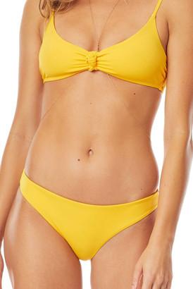 Tori Praver Sun Gold Isla Bikini Bottom Yellow L