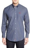 Thomas Dean 'Ole Miss Rebels' Regular Fit Long Sleeve Gingham Sport Shirt