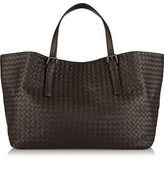 Bottega Veneta Intrecciato Leather Tote - Dark brown
