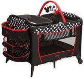 Disney Sweet Wonder Playard in Black/White/Red Mickey Silhouette