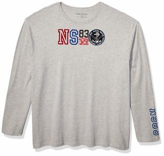 Nautica Men's Big Long Sleeve Graphic Printed T-Shirt