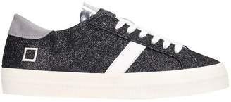 D.A.T.E Hill Low Sneakers In Black Glitter