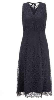 HUGO BOSS V-neck sleeveless maxi dress in floral lace