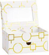 Jane Jewelry Storage, Small Metallic Box, Gold Geo