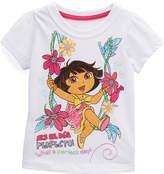 Children's Apparel Network Dora the Explorer White Floral Tee - Toddler