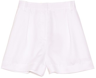 Tibi Soft Spring Suiting Pleated Short in White