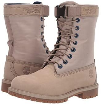 Timberland Kids 6 Premium Gaiter Boot (Big Kid) (Dark Beige Nubuck) Kids Shoes