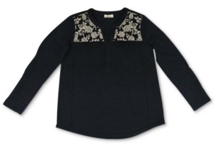 Style&Co. Style & Co Plus Size Cotton Embroidered Knit Top, Created For Macy's
