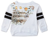 Jessica Simpson 2T-6X Emie French Terry Mixed-Media Top