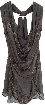 AllSaints Grey Silk Top for Women