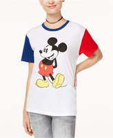 Disney Juniors' Mickey Mouse Contrast Graphic T-Shirt by Hybrid