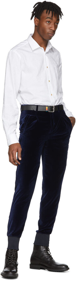 Thumbnail for your product : Paul Smith Navy Velvet Jogger Trousers