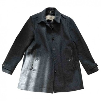 Burberry Anthracite Wool Coat for Women