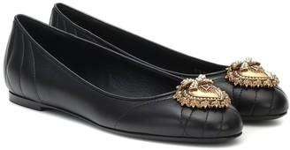 Dolce & Gabbana Devotion leather ballet flats