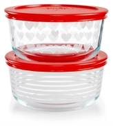 Pyrex Hearts & Stripes 4-Pc. Storage Set
