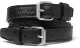 Balenciaga Wrapped Creased-Leather Bracelet