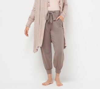 Anybody AnyBody Petite Cozy Knit Jogger Pants w/ Tie