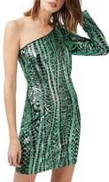 Topshop Women's One Shoulder Sequin Dress