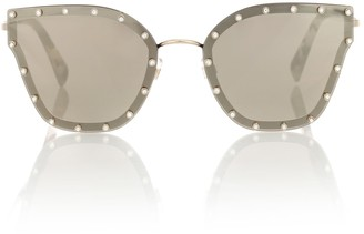 Valentino Embellished cat-eye sunglasses