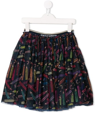 Dolce & Gabbana Pencil Print Skirt