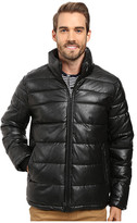 Tommy Hilfiger Quilted Faux Leather Puffer Jacket
