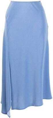 GOODIOUS Side-Slit Midi Skirt