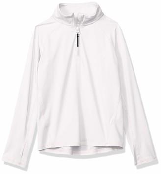 Amazon Essentials Half-zip Active Jacket White Medium