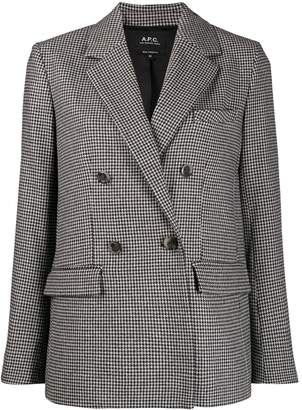 A.P.C. double-breasted checked blazer