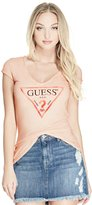 GUESS Women's Logo V-Neck Tee