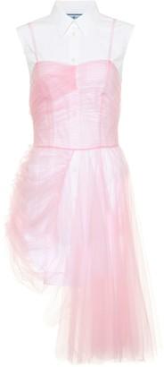 Prada Poplin and tulle minidress