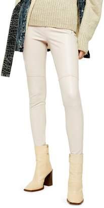 Topshop IDOL Skinny Biker Faux Leather Trousers