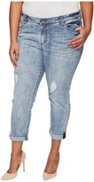KUT from the Kloth Plus Size Catherine Boyfriend in Heartiness/Medium Base Wash Women's Jeans