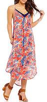 Roxy Kat Fish Printed Mid-Length Dress