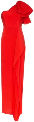 Roland Mouret Belhaven ruffled long gown