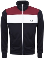 Fred Perry Laurel Colour Block Track Top Navy